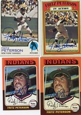 Indians Fritz Peterson signed 1975 Topps Mini Card