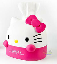 Cute Hello Kitty Office Bathroom Bedroom Roll Tissue Kleenex Box Cover Holder