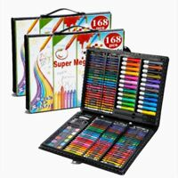 168pc Drawing Pencils Set Sketch Colored Pencils Watercolor Oily Kit Art Supply