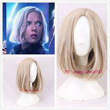 2018 New Movie Avengers: Infinity War Black Widow cosplay wig light blonde bob
