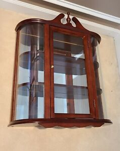 Butler Specialty Company Wall Curio Style # 3524835 - Cherry Wood, 2+ Shelves