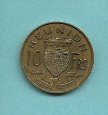REUNION ISLAND 10 FRANCS 1955