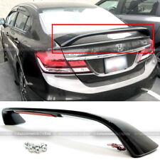 For 13-15 Honda Civic 4DR Glossy Black Trunk Spoiler Wing LED Brake Light Lamp