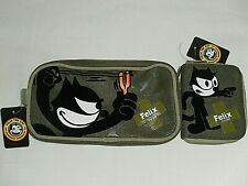 Felix the Cat Double Compartment Multi Purpose Bag + Purse / Wallet NEW