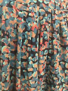 Gorman Size 14 Silk Skirt - Animal Print Green Tan Orange