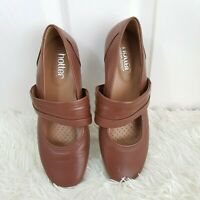 HOTTER Adriana Mary Jane shoes UK 4.5  EUR 37.5  Brown Ballet Style Comfort