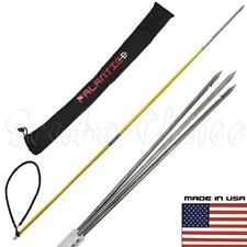 5' ft Travel Spearfishing Two-Piece Fiber Glass Pole Spear 3 Prong Paralyzer Bag
