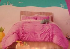 Pillowfort Glitter Ruched 3 Piece FULL QUEEN Comforter Bed Set  Pink Lavender