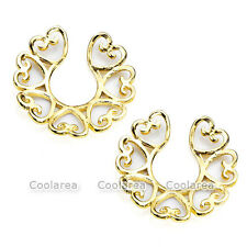 Nipple Ring Body Piercing Jewelry Pair Golden Sex Heart Non-Piercing Clip On