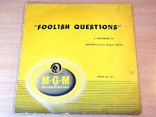 """EX- !! Arthur Smith/Foolish Questions/1955 MGM 10"""" LP"""