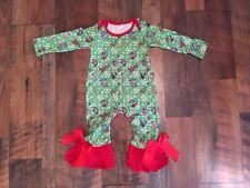Baby-Infant-Girl-Ruffle-Long-Sleeve-Romper-Playsuit-Christmas-12 months