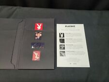 1997 Playboy Classic Collection Collectors Pin Set in Folder, Includes 4 Pins