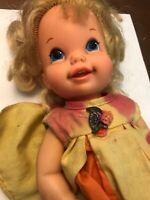 """Mattel Bouncin Baby Go Bye Bye Wobble Head 11"""" 1968 Vintage Doll"""