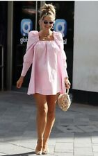 Mini Vestido H&M Mujer manga larga rosa de algodón popelín Puff UK 12 EU 40 BNWT Nuevo