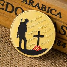 The Great War Commemorative Coin Art Collection Gold Plated Collectible Colored