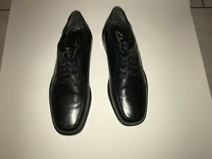 Mens Clarks Leather Black Shoes size 9