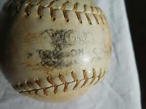 Vintage leather WORTH SOFTBALL Baseball with ntl lacing approximately 70 yrs old