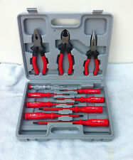 Electricians Screwdriver Set Tool Electrical Fully Insulated 11pc with Case 038C