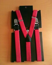 Lads Mens Narrow Red Braces BNWT *Great for Christmas Party*