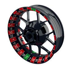 Felgenaufkleber Motorrad Felgenrandaufkleber Wheelsticker Roulette rot