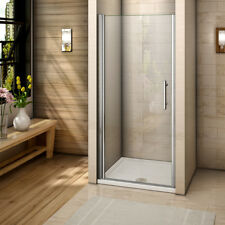Chrome Pivot Shower Enclosure Glass Door Walk in Cubicle Screen Frameless Design 900mm Exclude Tray
