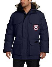 NEW Canada Goose Mens Expedition Coyote Trim Navy Winter Parka Coat Jacket  M