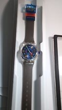 SWATCH WATCH stop watch AG 1992 Collector's Item!  grey, blue, orange. Comes wit