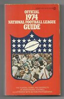 1974 Official National Football League Guide Paperback Book
