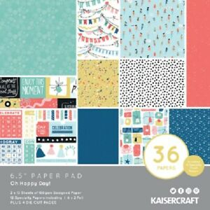 "Kaisercraft 'OH HAPPY DAYS!' 6.5"" Paper Pad Birthday/Celebration/Party KAISER"