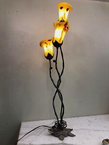 Art Deco Bronze + Glass Lamp