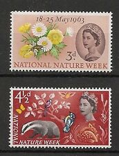Nature Great Britain Commemorative Stamps (1960s)