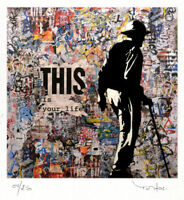 TABLEAU ART CONTEMPORAIN This is ..  ed. TEHOS serie limitee 250 ex street art