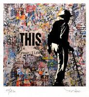 TABLEAU ART CONTEMPORAIN This is ..  ed. TEHOS serie limitee 250 ex street art