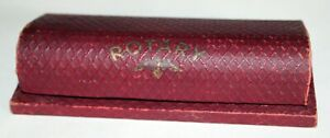 Rotary wrist watch case vintage used 1920's possibly red hard case used good con