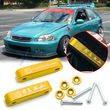Gold JDM Billet Hood Vent Spacer Riser + Bolts Modification Kit For Acura Honda
