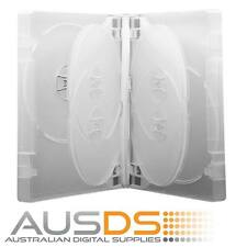 3 X DVD Cases clear 7 disc 26mm spine - Holds 7 Discs Fatbox