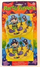 PIRATE PARTY PIRATE MINI NOTEPADS X 4 PARTY FAVOURS - BAGS