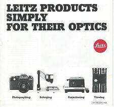 1973 Leica Camera Products Brochure