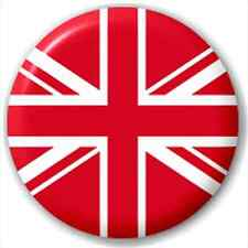 Red & White Union Jack Team Flag 25Mm Pin Button Badge Lapel Pin