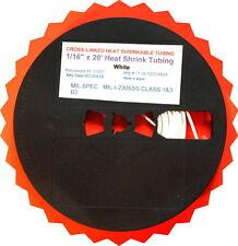 "1/16"" x 20' Cross-Link Heat Shrink Tubing TUBE WHITE  1/16 Inch x 20 Feet"