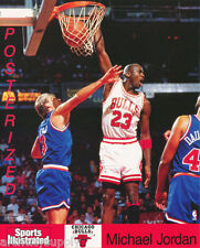 SMALL POSTER:NBA: MICHAEL JORDAN-WHITE UNI-CHICAGO BULLS-FREE SHIP! #6461 RP89 M