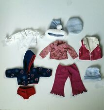 American Girl Doll Clothes Accessories Vest Snowflake Molly Hat Shirt Lot Of 9