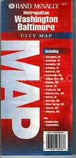 Rand Mcnally Metropolitan Washington Baltimore City Map