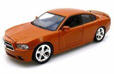 2011 Dodge Charger, Orange - Showcasts 73354 - 1/24 Scale Diecast Model Car