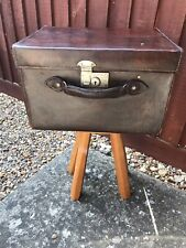 Vintage Leather Carriage Hat Box