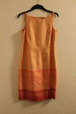 Peach/orange Ann Taylor 100% silk dress in excellent condition