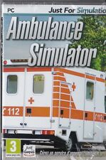 JEU PC AMBULANCE SIMULATOR SERVICE D'URGENCE SIMULATION WINDOWS XP/VISTA/7