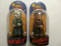 Neca Body Knockers Solar Powered Friday 13th Jason Voorhees & Freddy Kruger figs