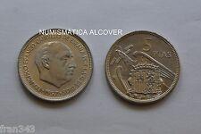 MONEDA de 5 pesetas 1957  *74 Franco SC / SPAIN km#786 UNC