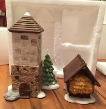 Heritage Village Collection SILO AND HAY SHED 2 Pc Christmas Accessory #59501